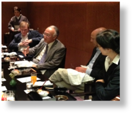 WV Japan dinner with Nobuo Tanaka, IEA Executive director and influential energy adviser to the Japanese government