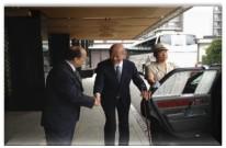WV's Bill Anawaty with Mr. Taizo Nisimuro, Chariman of Japan Post Holdings