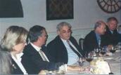 WV Washington Dinner with Richard Perle, Donald Rumsfeld's defense adviser.
