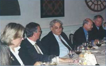WV Washington Dinner with Richard Perle, Donald Rumsfeld's defense adviser.