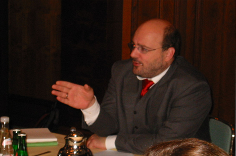 WV Europe discussion with Steffen Kampeter, Angela Merkels chief spokesman in the Bundestag.