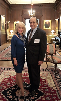 Bill Anawaty, President, Anari Inc. and Barbara Bennett, CEO & Director/Latin Amerca - pictured at an Anari-hosted Wash DC investor event at the Cosmos Club